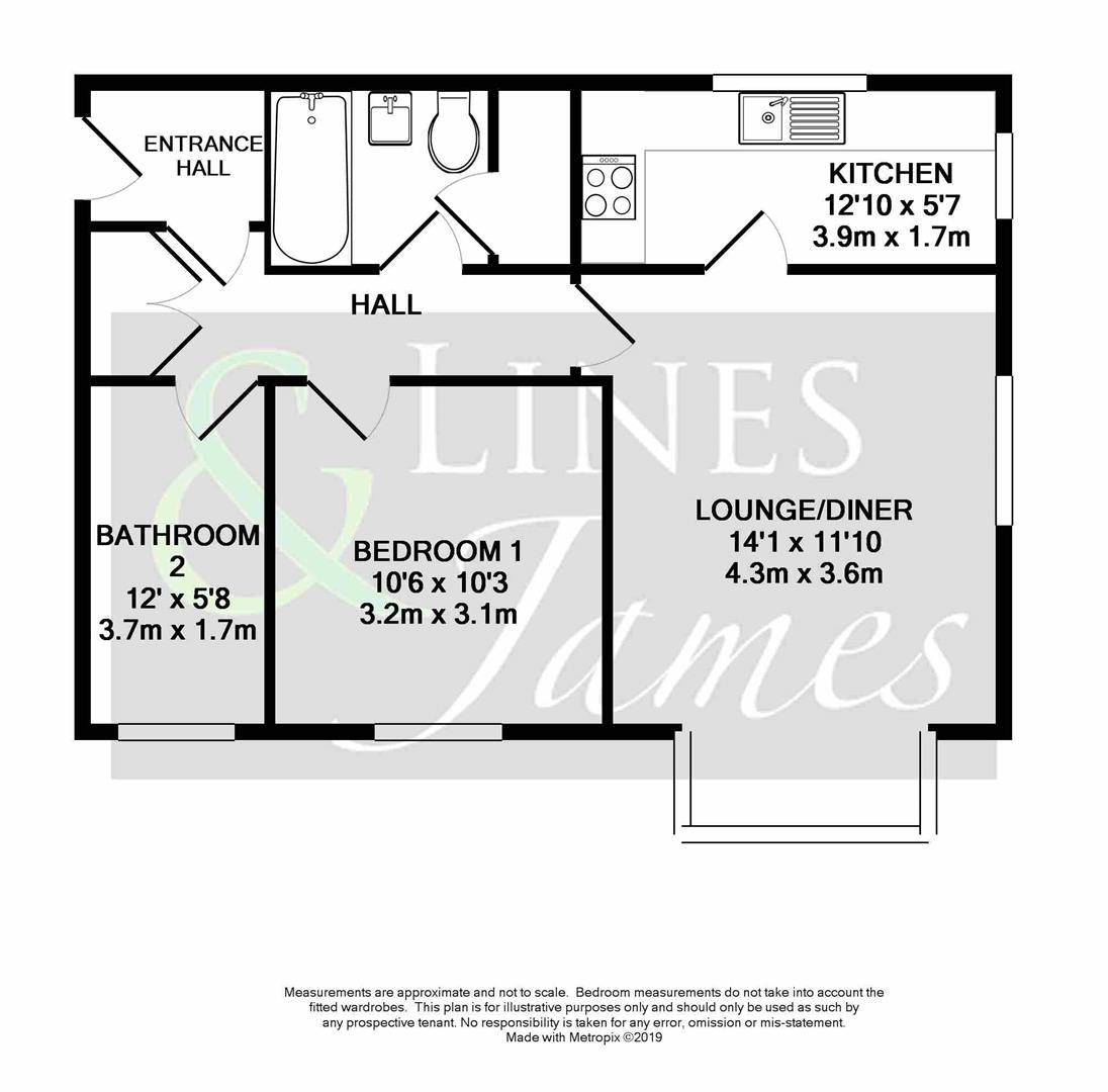 Floorplan for Tanyard Close, Horsham